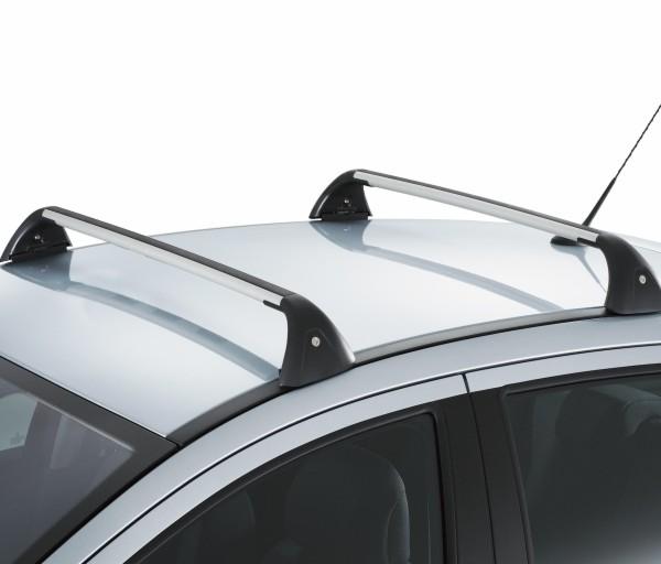 jeu de 2 barres de toit transversales aluminium quick barres ref 9616x1 garage vallet. Black Bedroom Furniture Sets. Home Design Ideas